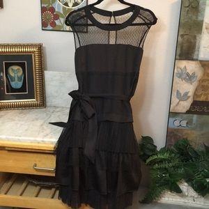 New Max&Cleo Little Black Dress Lace Illusion Neck